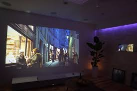 projector home theater sony u0027s 4k ultra short throw projector your wall as tv screen