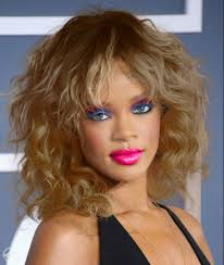 rihanna golden brown color and geller makeup real