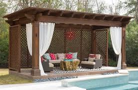 Pergola With Curtains Pergola Design Ideas Outdoor Pergola Curtains Swimming Pool And