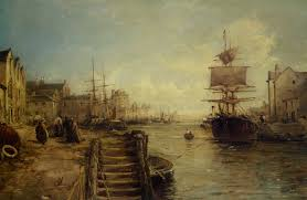 a bit of poole harbour william edward webb seascape with ships