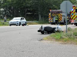 serious injury after car vs scooter in barnstable