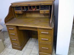 Schreibtisch Mit Aufsatz Holz Eleganter Alter Schreibtisch Mit Rollfach Sekretär Massiv Holz Ebay