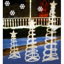 everstar set of 3 lighted spiral trees yard multi