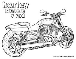 motorcycle coloring pages harley davidson classic coloringstar and