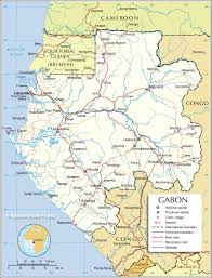 Political Map United States by Political Map Of Gabonese Republic Nations Online Project