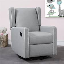 Grey Bedroom With White Furniture by Furniture Grey Swivel Nursery Recliner With White Wall And Grey