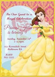 belle printable birthday party invitation by partyinnovations09