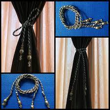 diy how to make curtain tie backs golden u0026 brown youtube