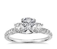 3 engagement ring truly zac posen three trellis diamond engagement ring in