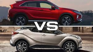 mitsubishi eclipse 2017 2018 mitsubishi eclipse cross vs 2017 toyota c hr youtube