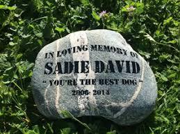 pet memorial pet memorial ready to rock engraving