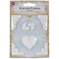 prima ingvild bolme shabby chic treasures resin lace hearts