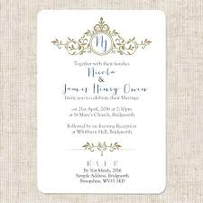 royal wedding invitation royal monogram boutique wedding invitation rsvp