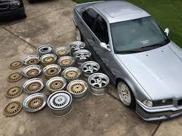 bmw e30 oem wheels wheel choice for this bmw e36 sedan almost 4 sets of bbs rs