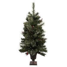 shop astella 3 6 ft pre lit slim flocked artificial tree