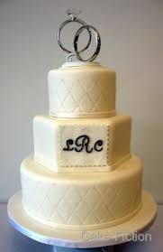 ring cake topper cake fiction quilted wedding cake with diamond studs