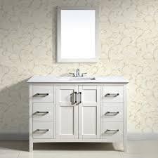 White Bathroom Vanity Ideas 42 Inch White Bathroom Vanity With Top Andreuorte Pertaining