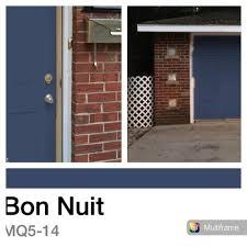 behr marquee bon nuit for front door and garage door for our