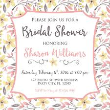bridal tea party invitation floral inspired bridal tea party invitation bash designs