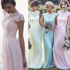 blush bridesmaid dress pastel blue blush bridesmaid dresses 2017 crew neck cap