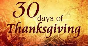 30 days of thanksgiving day 1 family