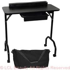 manicure nail table station new black portable manicure nail table station desk spa beauty salon