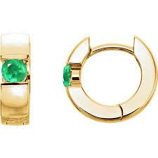 hinged hoop earrings 0 50cts hinged hoop gold emerald earrings j r jewels