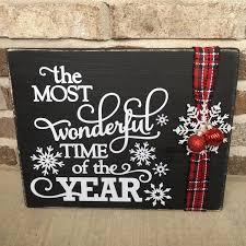 mostwonderfultimeoftheyear rusticchristmasdecor rusticsign