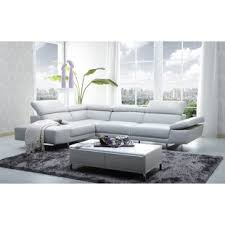 White Leather Sofa Sectional Modern White Sectionals Allmodern