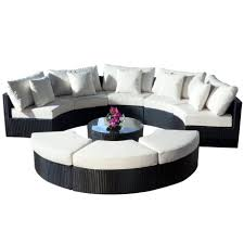 arrangement modern living room interior design with round sofa set