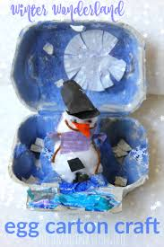 winter wonderland egg carton craft the imagination tree
