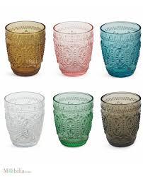 bicchieri vetro set 6 bicchieri vetro colorati villa d este