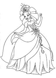 Tiana Princess And The Frog Coloring Pages Little Her Parents In Princess And The Frog Colouring Pages