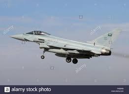 Flag Im Royal Saudi Air Force Eurofighter Ef 2000 Landung An Raf Coningsby