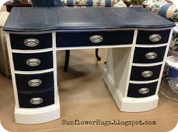 Chalk Paint Desk by Navy Blue Nautical Painted Furniture Chalk Paint I Used A