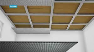 horizontal self supported ceiling constructed using promat