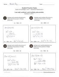 hsa apr 1 operations using polynomials math high