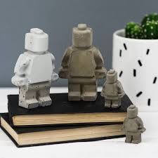 concrete decorative toy man by bells and whistles make