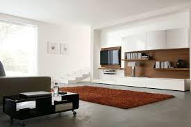 Living Room Design Television Wall Mounted Tv Ideas Living Room Idea In Boston With White Walls