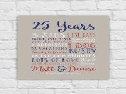 25 wedding anniversary gift ideas 25th wedding anniversary gift paper canvas twenty fifth 10 25th