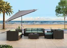 11 Parasol Cantilever Umbrella Sunbrella Fabric by 8 U0027 X 10 U0027 Rectangular Auto Tilt Umbrella Um8810rt Swv Patio