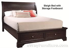 Solid Wood Sleigh Bed New Solid Wood King Storage Sleigh Bed Mahogany Bedroom Furniture