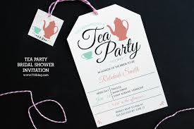 tea party bridal shower invitations tea party bridal shower invitation inspiration made simple