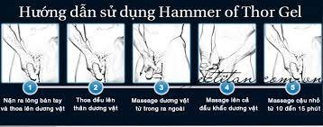 hướng dẫn cách sử dụng hammer of thor gel viên uống giọt