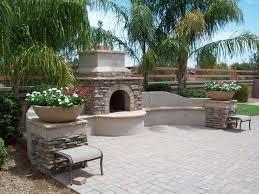 Fake Outdoor Fireplace - chandler landscape design poco verde landscape fireplace