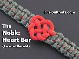 bracelet knots youtube images How to make a noble heart bar paracord bracelet by tiat jpg