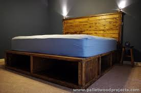 adorable king size platform bed with storage plans and build a