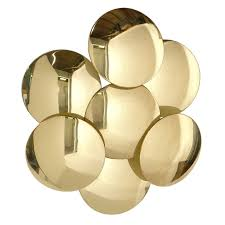 sculptural brass wall sconce or applique by reggiani wall