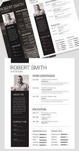 simple and clean resume free psd template psd templates