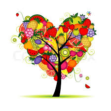 energy fruit tree shape for your design stock vector colourbox